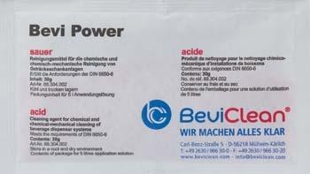 10x Bevi Power Pulver 30g zur chemischen Leitungsreinigung  sauer