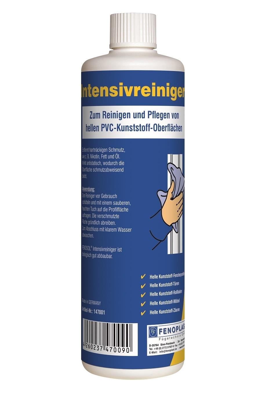 """""""15,80€/l"""" Fenosol Intensiv Reiniger weiße Kunststoff Fenster Türen Rollladen"""
