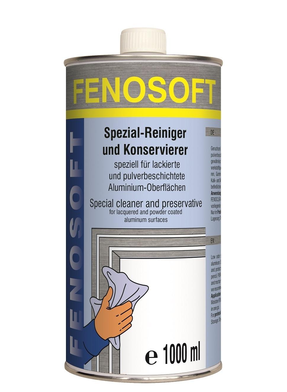 1l Fenosoft AL Spezial Reiniger ALU Profile Aluminiumreiniger Fenosol Eloxiert
