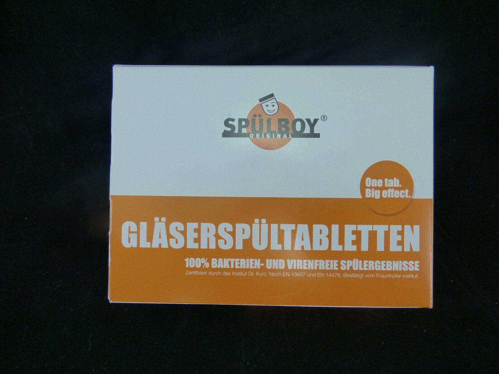 """""""27,07/kg"""" Gläserspültabletten von Original Spülboy Spültabs 750g/192 Füllungen"""