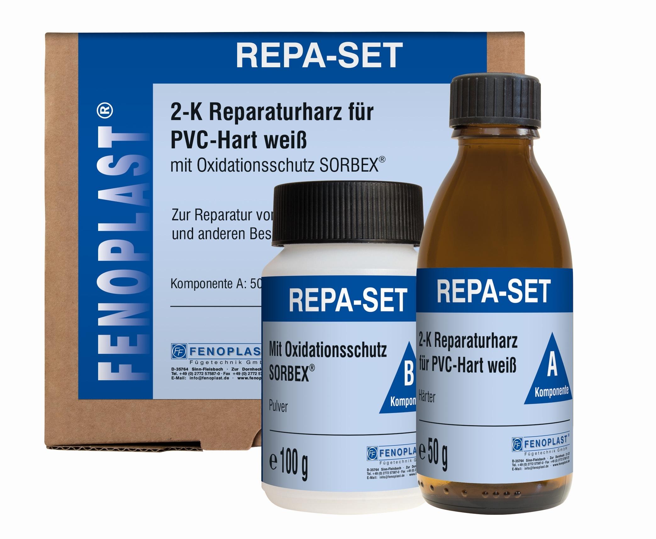 Repa-Set Fenoplast Reparaturset für Kunststoff Fenster Türen PVC  RAL 9016
