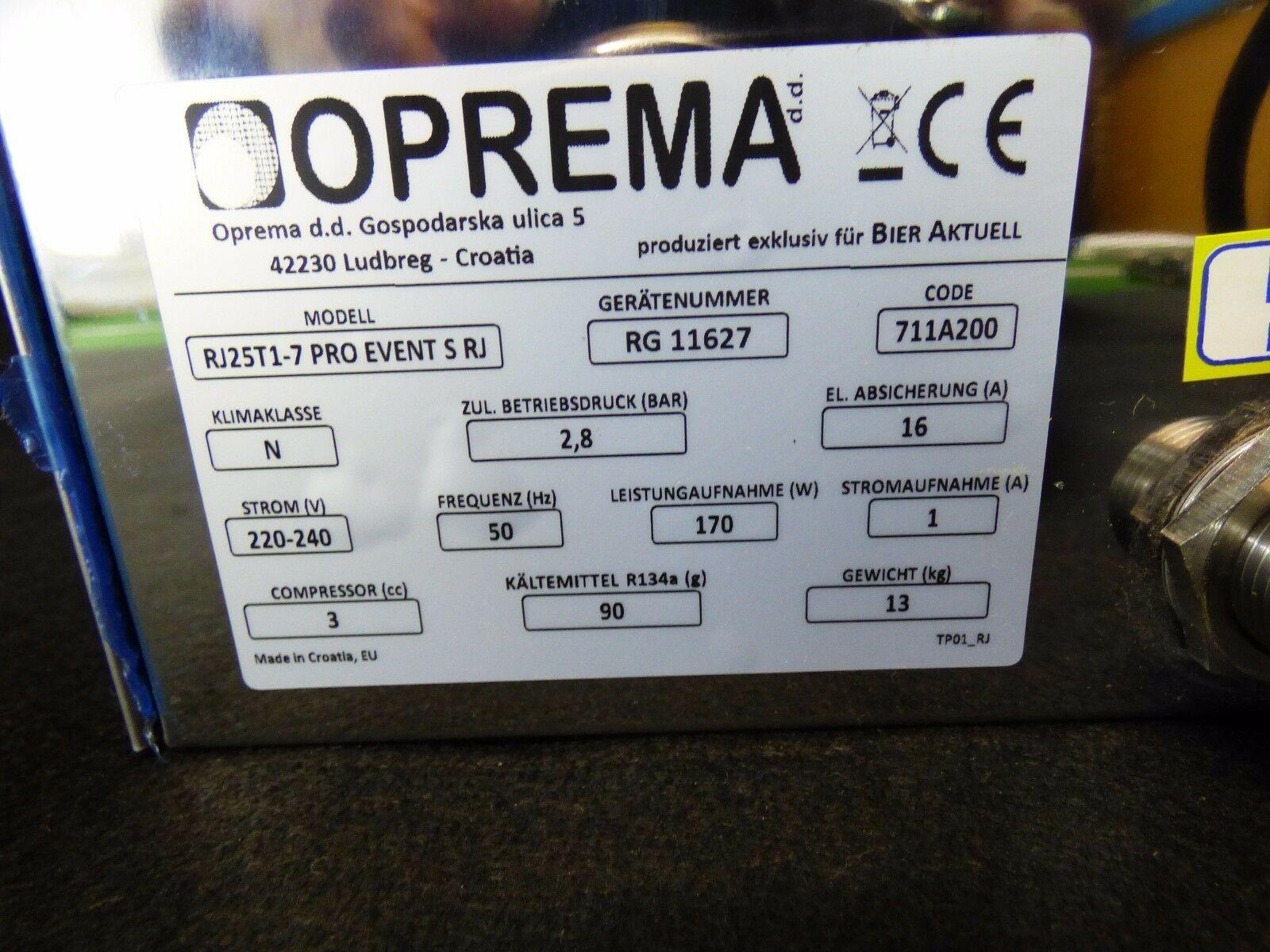 Oprema Zapfanlage Trockenkühler Bierkühler Unterthekenkühlgerät + Zapfsäule