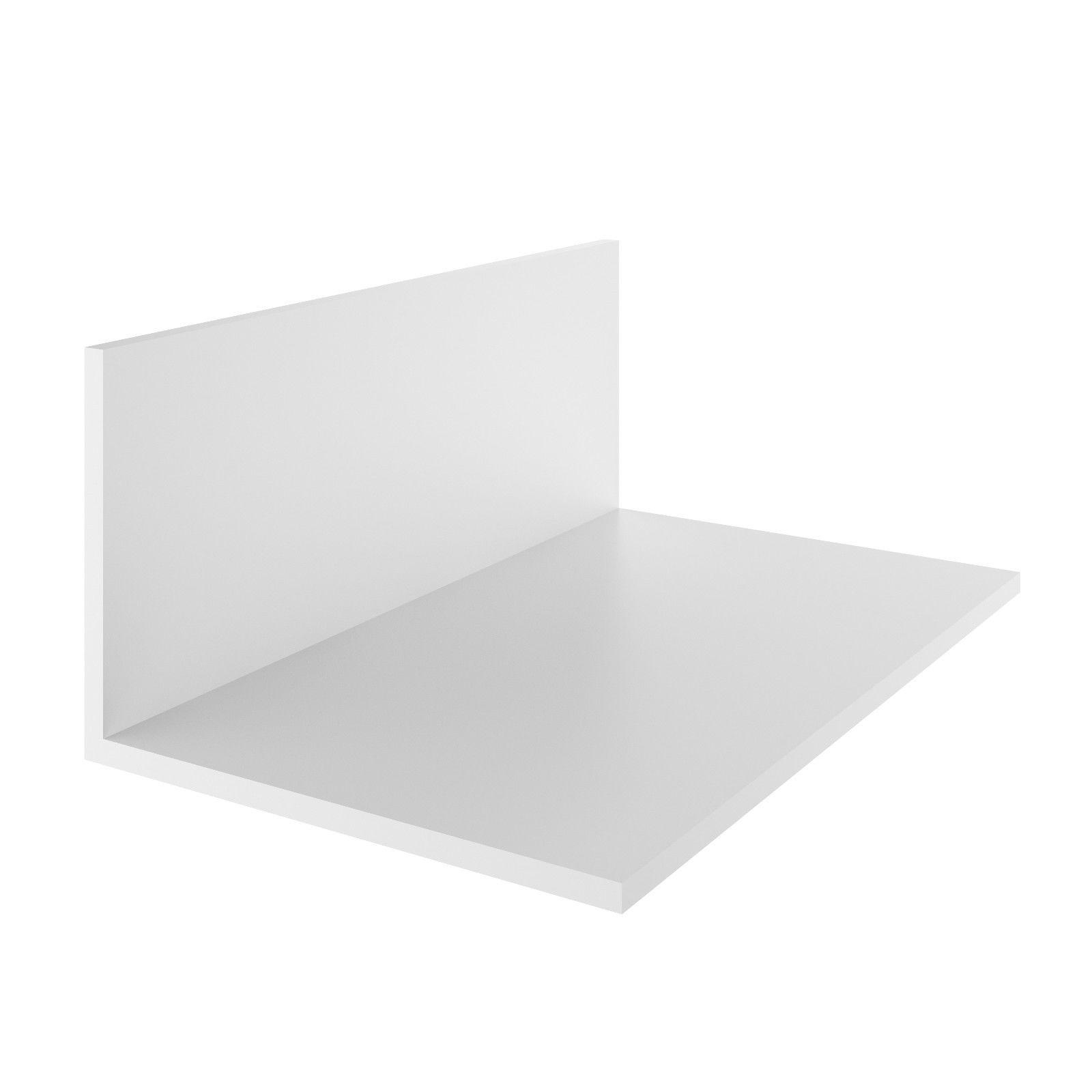 """1,62€/m"" 2m Profil Eckleiste Aussenwinkel PVC-Winkel Winkelprofil Ecke 30x20 mm"
